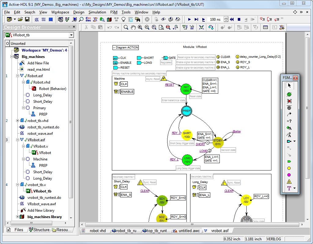 Active Hdl Designer Edition Fpga Simulation Products Aldec Block Diagram Editor State