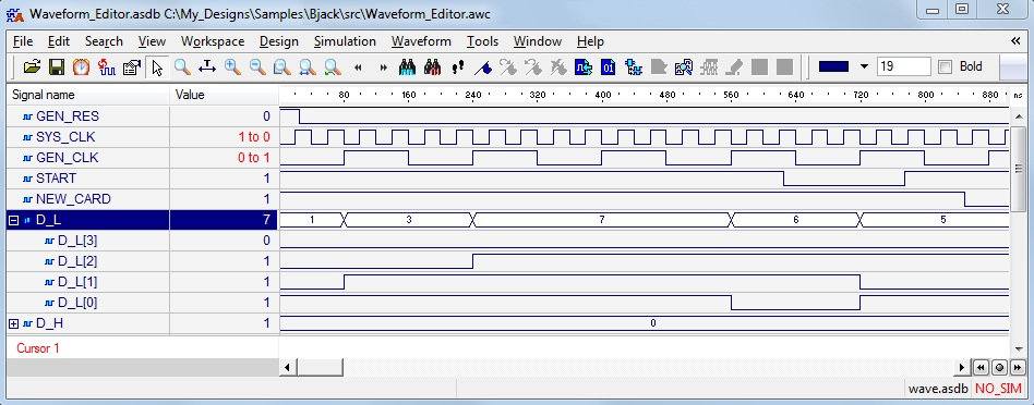 VHDL TestBench in IEEE WAVES Format