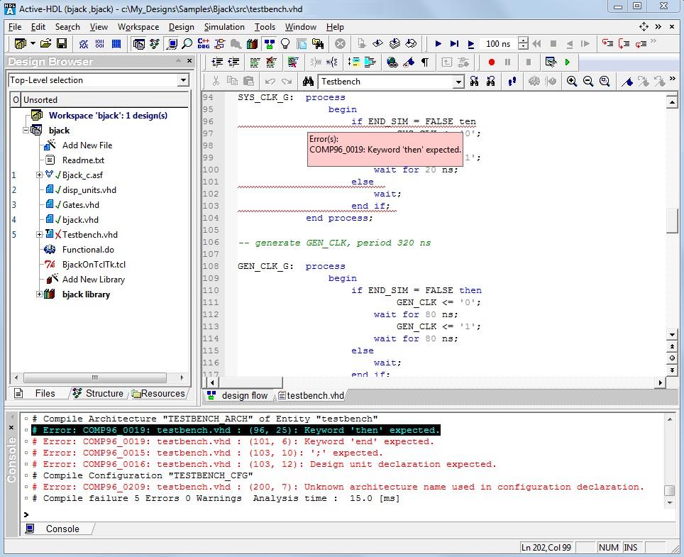 HDL Debugging in Active-HDL - Application Notes
