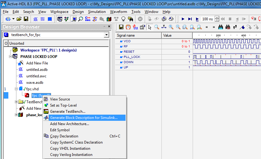 Active-HDL Interface to Simulink® - Application Notes
