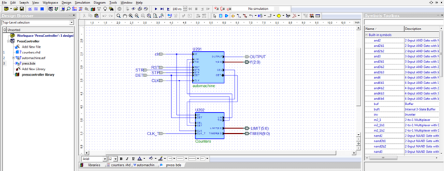 after adding everything your block diagram will look like figure 8 - Block Diagram Editor