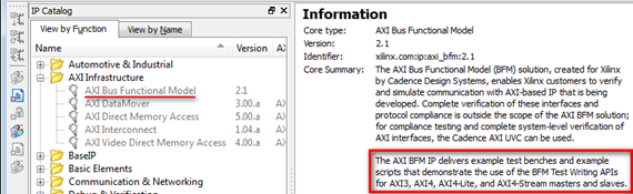 Simulating AXI BFM Examples Available in Xilinx CORE