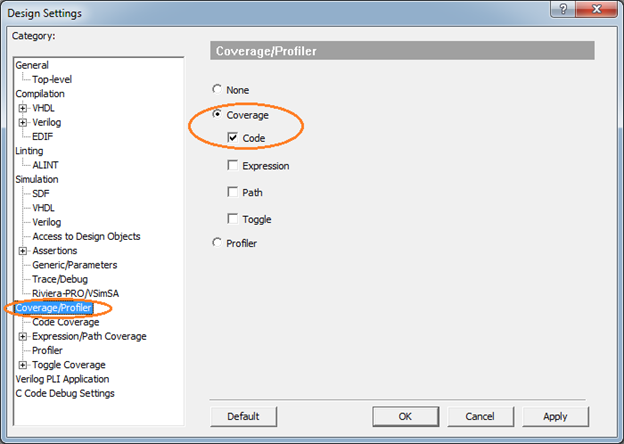 Collecting Code Coverage in Active-HDL - Application Notes